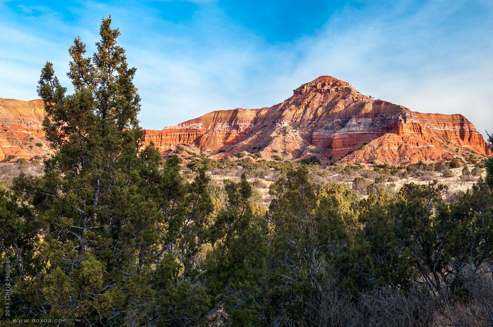 Capital Peak a significant geologic feature in Palo Duro Canyon resembles capital building