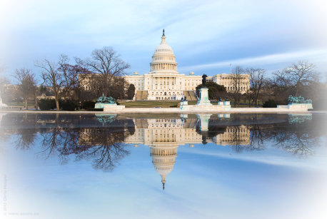 Capitol Reflecting Pool Washington DC Winter
