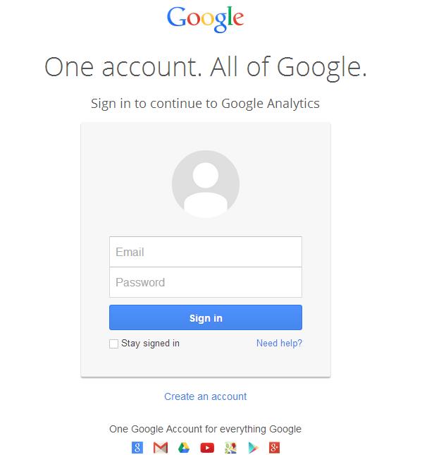 How to add Google analytics image