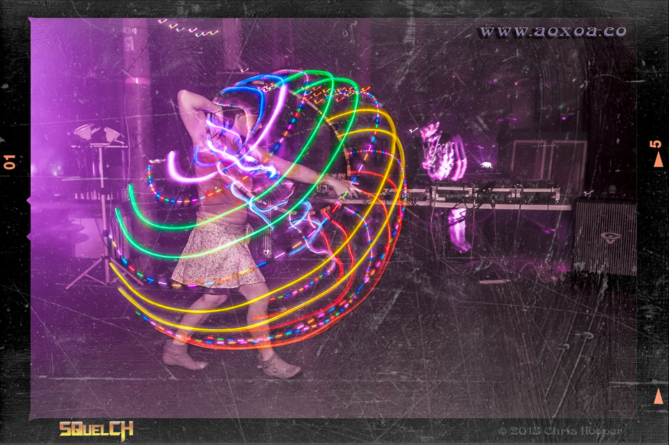 Nightclub photographer AoxoA creates image of hoola hooper