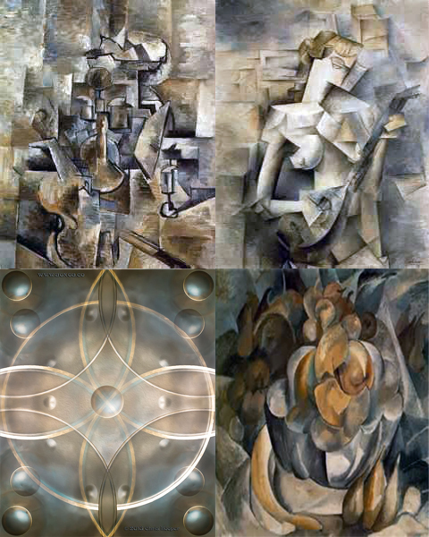 Hangism with Picasso and Braque Cubism