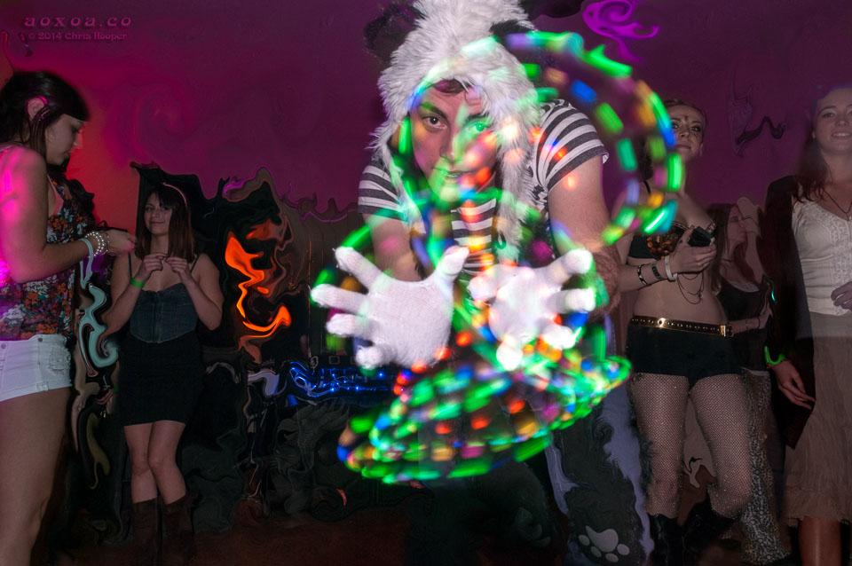 Brandon Wernick with finger lights