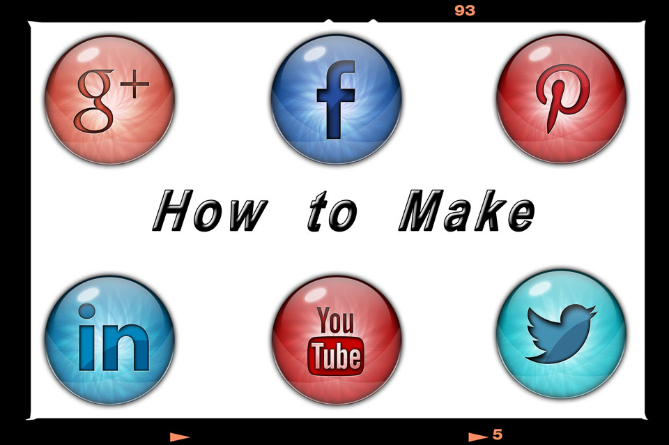 How to Make Social Media Icon buttons