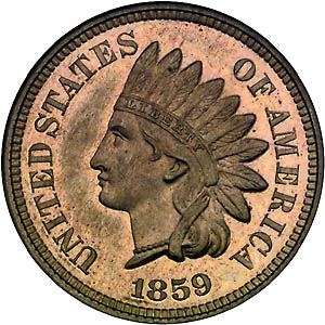 A warbonnet pictured on a 1959 indian head penny