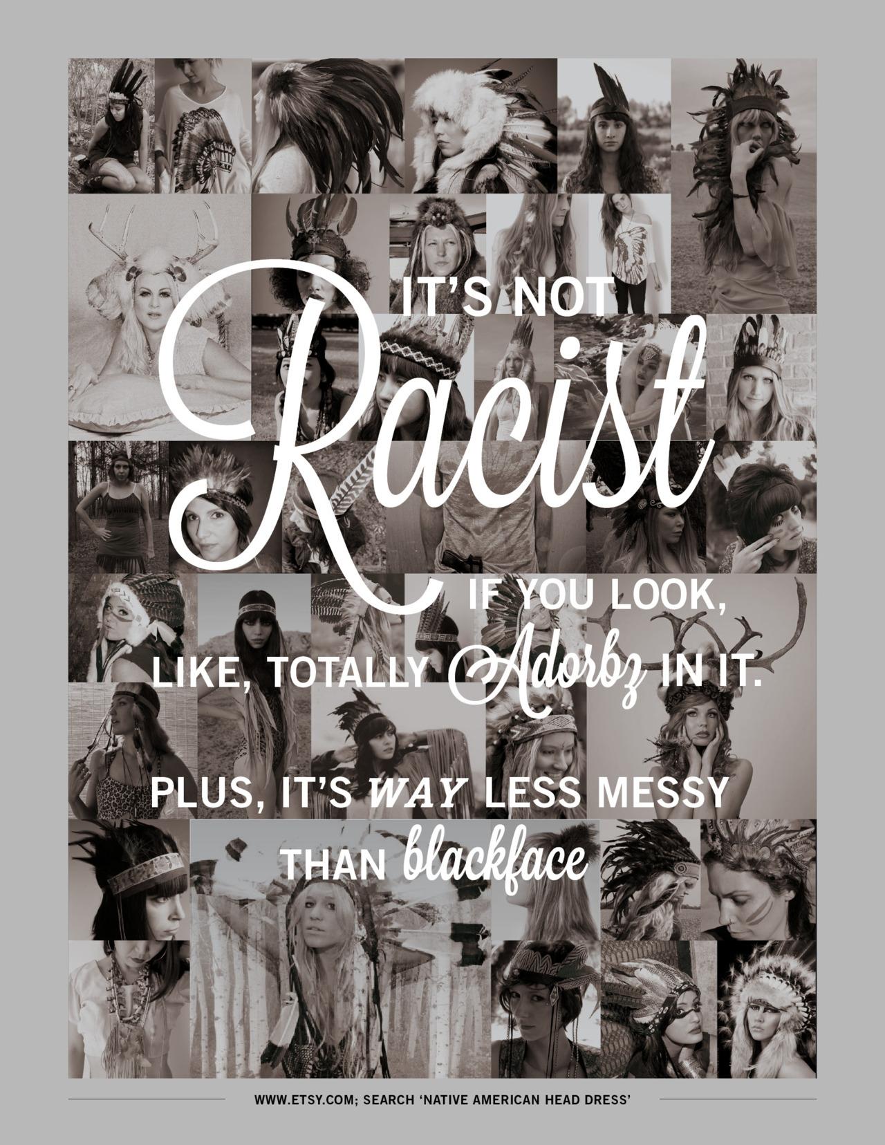 headdress does not make you racist