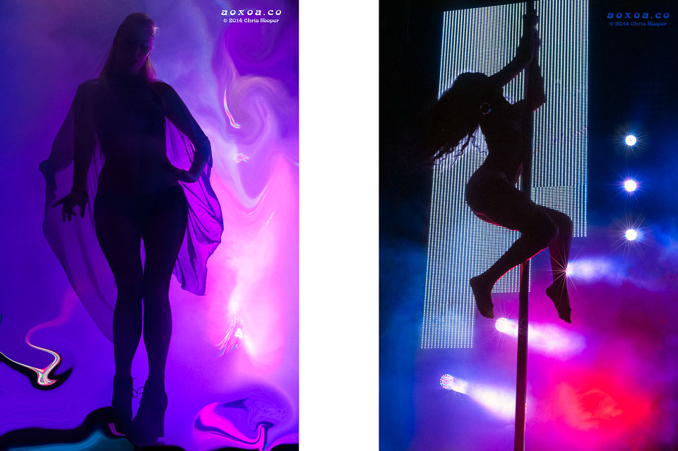 Dancers perform during Crystal Method