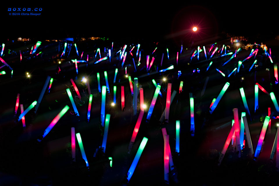 A sea of glow wands at euphoria music festival