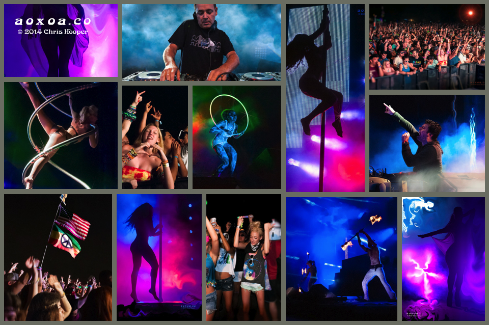 edm photographer collage of Crystal Method