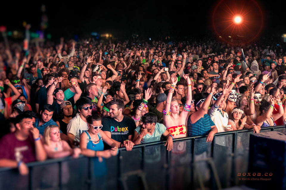 Euphoria music and camping festival crowd