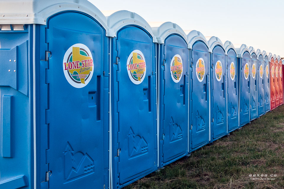 Bathrooms at Euphoria Music and Camping Festival