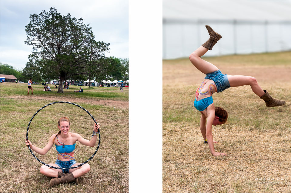Euphoria Music and Camping Festival hula-hooper yoga