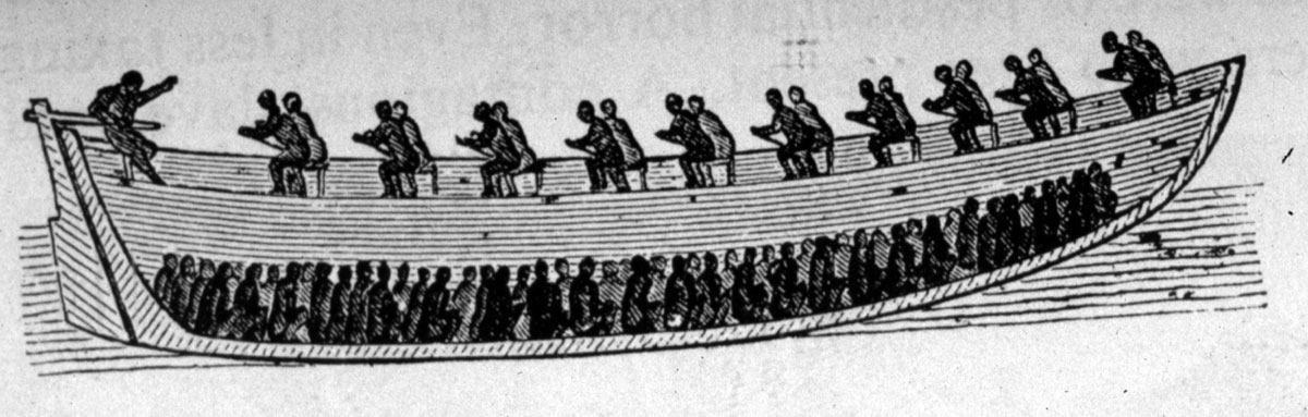 Africans Transporting African Slaves in cannoe, Middle Passage