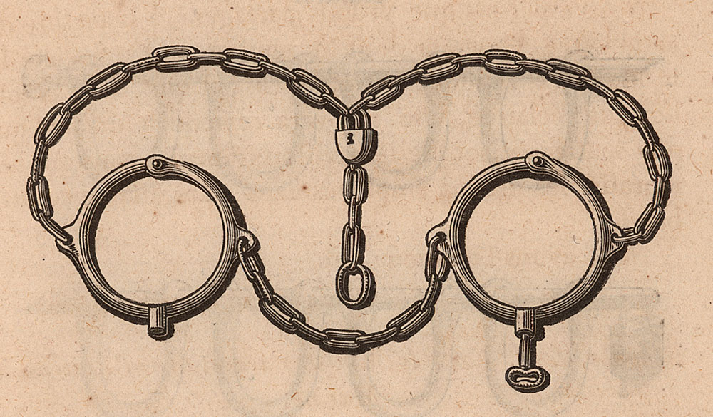 Iron Collar and Chains Used by Slave Traders