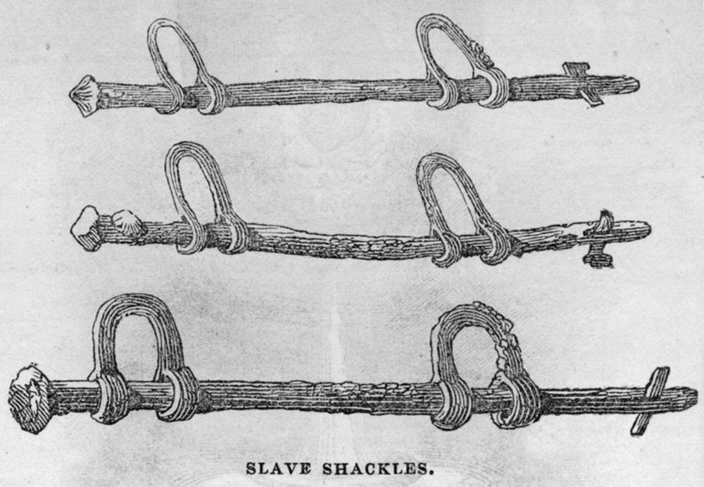 Shackles Used on Slave Ship, middle passage