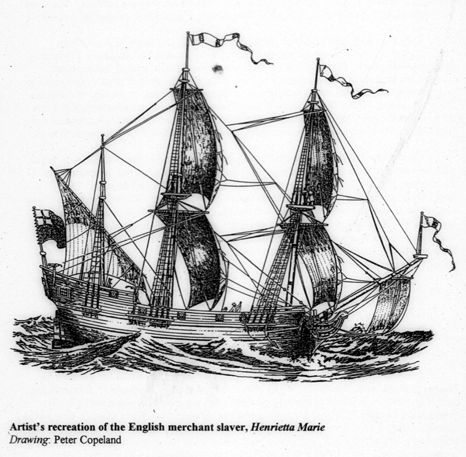 Slave Ship sailing the middle passage