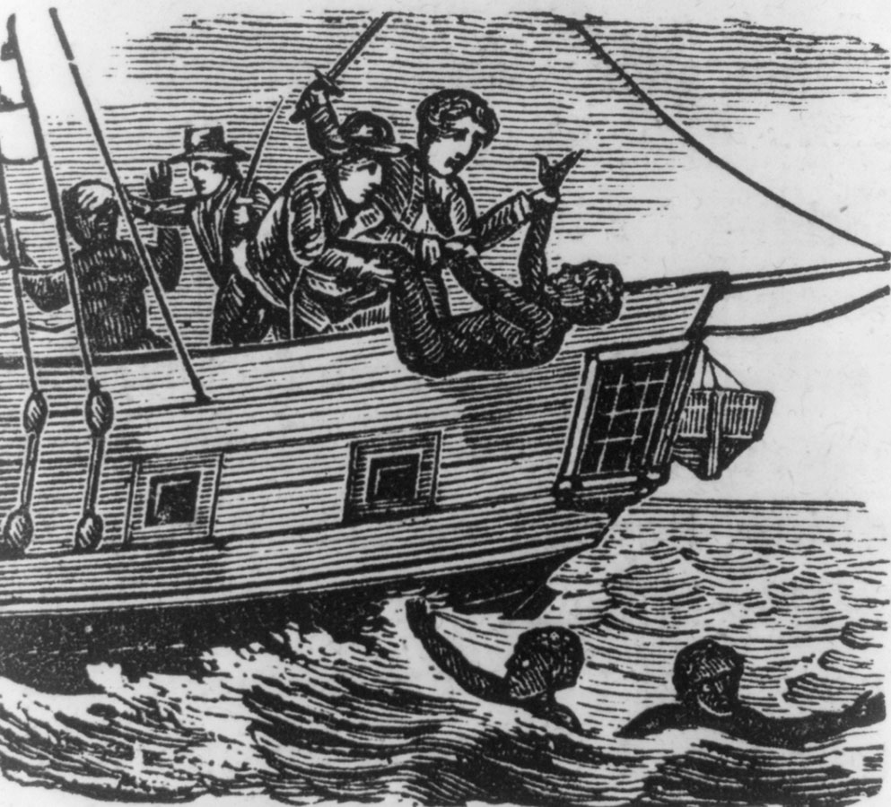Thrown Overboard from a Slave Ship, middle passage