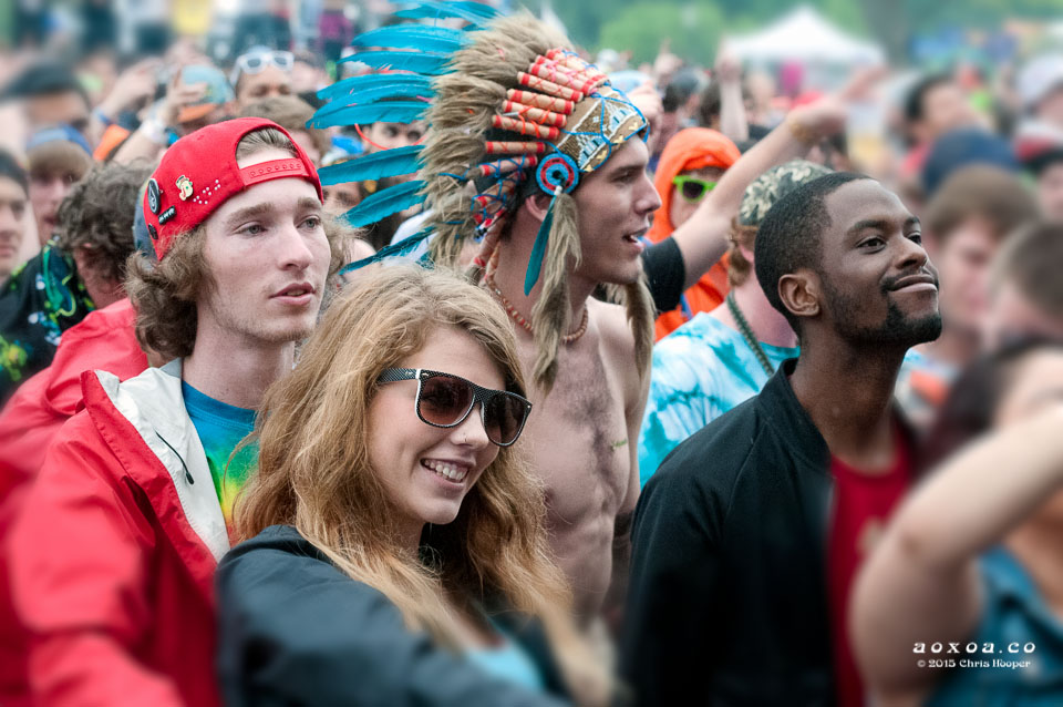 Festivalgoers at euphoria music festival by aoxoa hooper