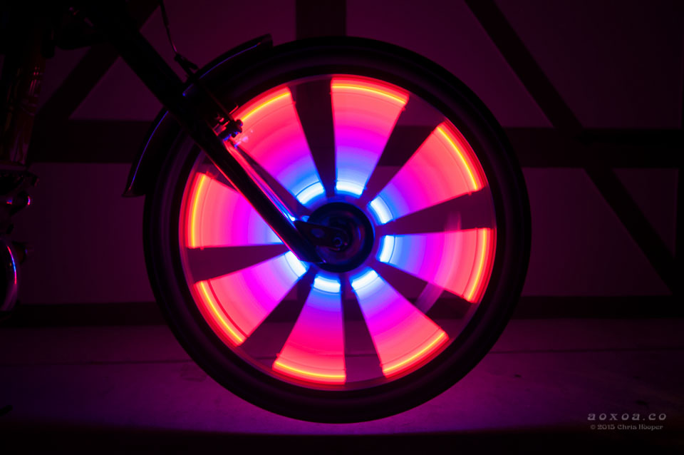 Led Wheel Lights For Bicycle Led Bike Radlicht Aoxoa