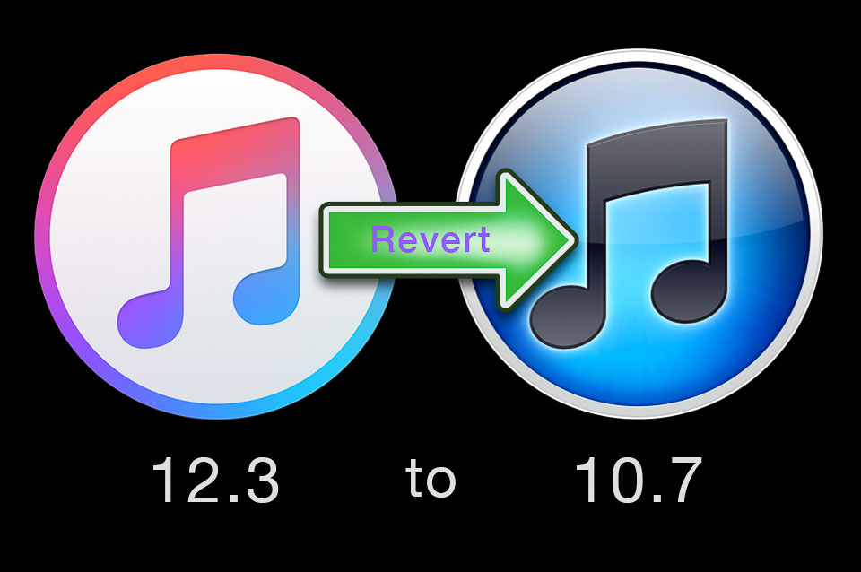 Revert from iTunes 12 to iTunes 10.7 downgrade