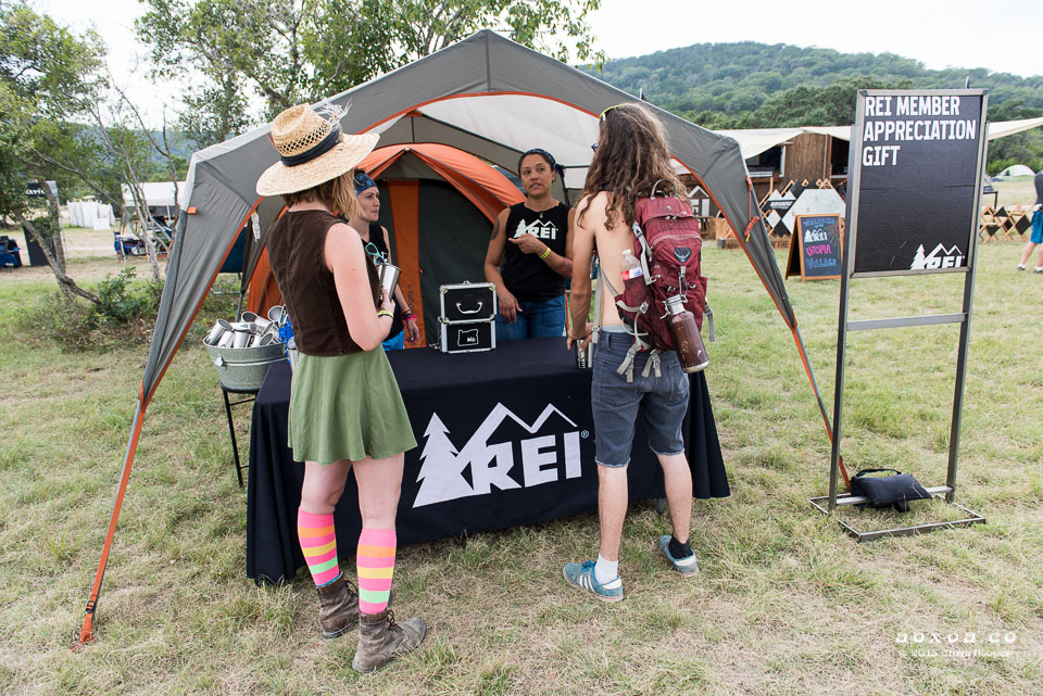 REI booth at utopiafest review 2015.