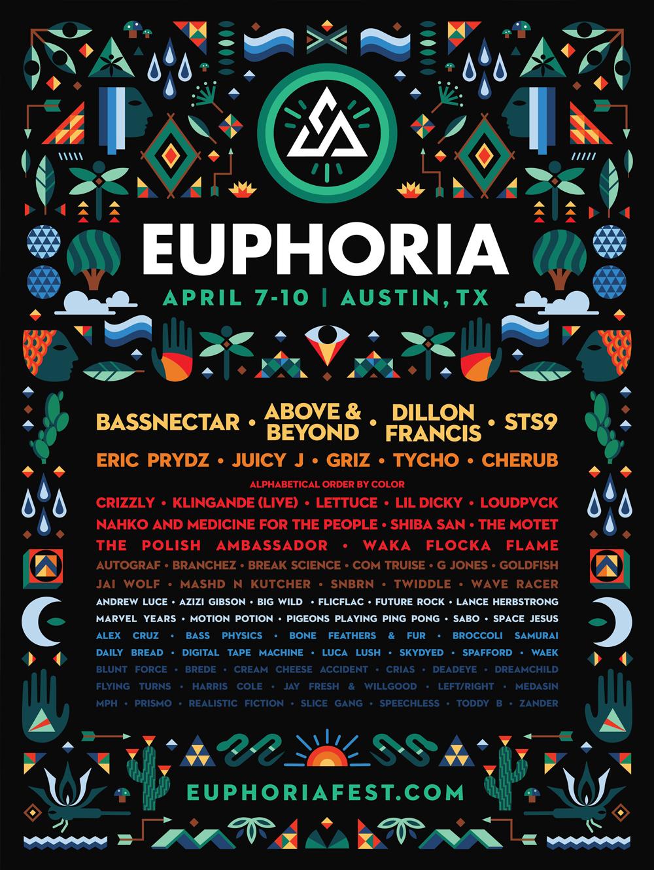 Euphoria Music Festival 2016 poster