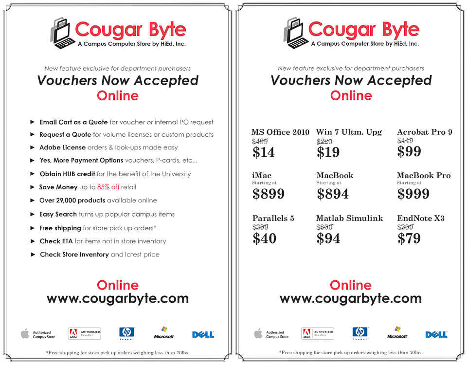 graphic design flyer for Cougar Byte