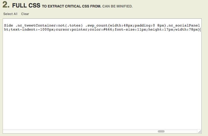 paste inline defer render blocking css