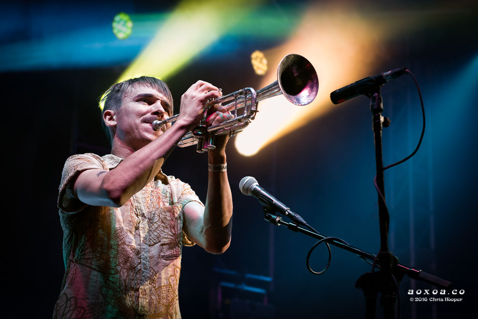 Alex Toth of Rubblebucket by music photographer AoxoA