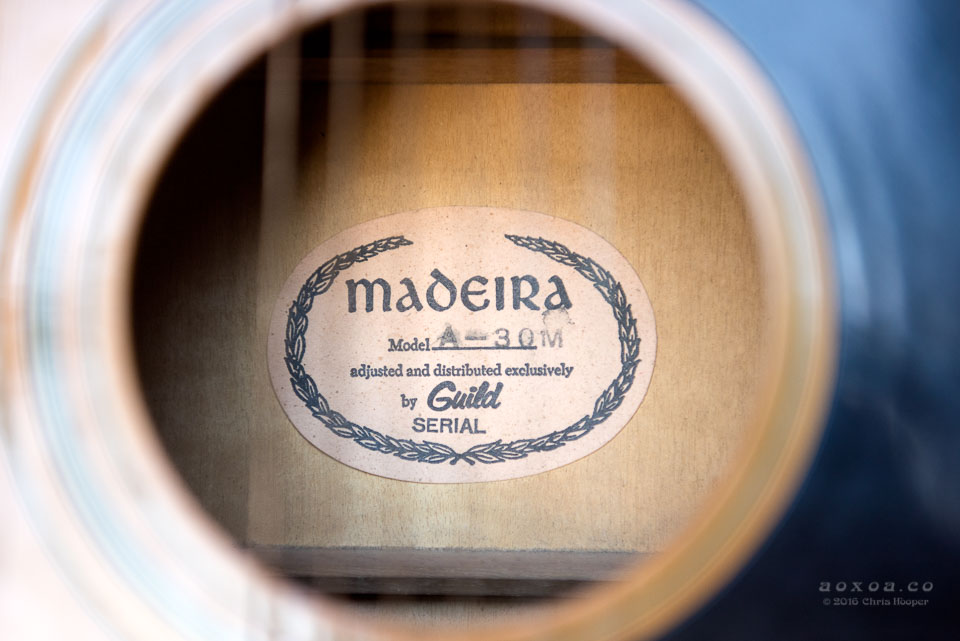 madeira by guild oval label japan