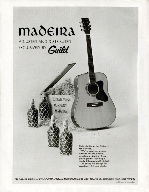 Madeira by Guild ad from 1972