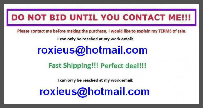 handpan for sale eBay scam example